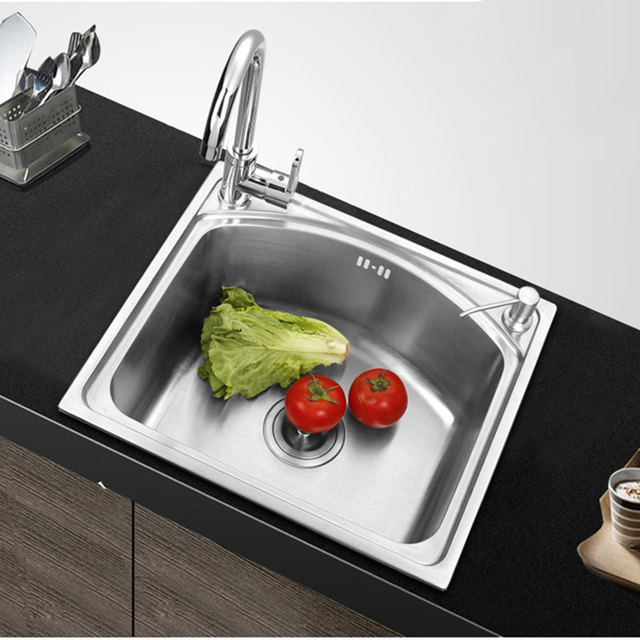 Stainless Single Bowl Kitchen Sink Sink kitchen vegetable washing basin pots single bowl kitchen sink sink kitchen vegetable washing basin pots single bowl kitchen sink without faucet stainless steel wash dishes workwithnaturefo