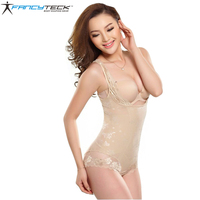 3 Colors S To 3XL Women Seamless Bodyshaper Lace Bodysuit Corset Postpartum Tummy Slimming Shaper Waist