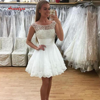 Sexy Lace Short Homecoming Dresses Plus Size Semi Whit Mini Formal Graduation Cocktail Prom Party Dresses