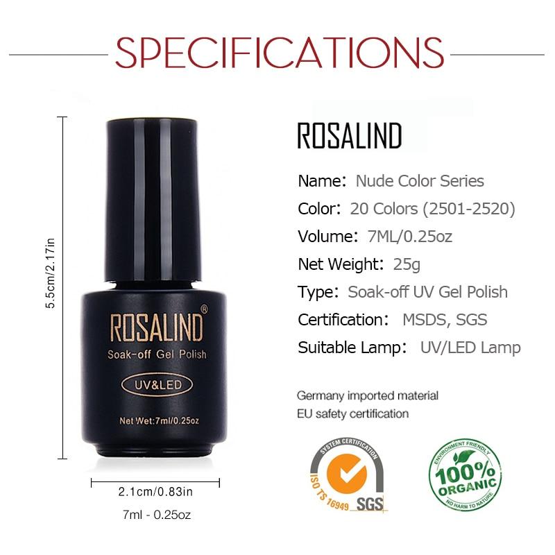 Nail Art Instrumente Rosalind Gel 1s 7ml Color Series Polish For Extension Uv Led Varnish Design Top Primer Manicure
