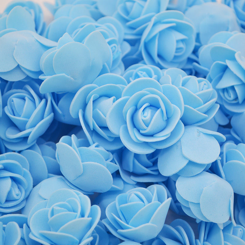 50Pcs lot PE Foam Rose Artificial Flowers Wedding Party Accessories DIY Craft Home Decor Handmade Flower Head Wreath Supplies 8 in Party DIY Decorations from Home Garden