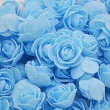 50Pcs/lot PE Foam Rose Artificial Flowers Wedding Party Accessories DIY Craft Home Decor Handmade Flower Head Wreath Supplies 8