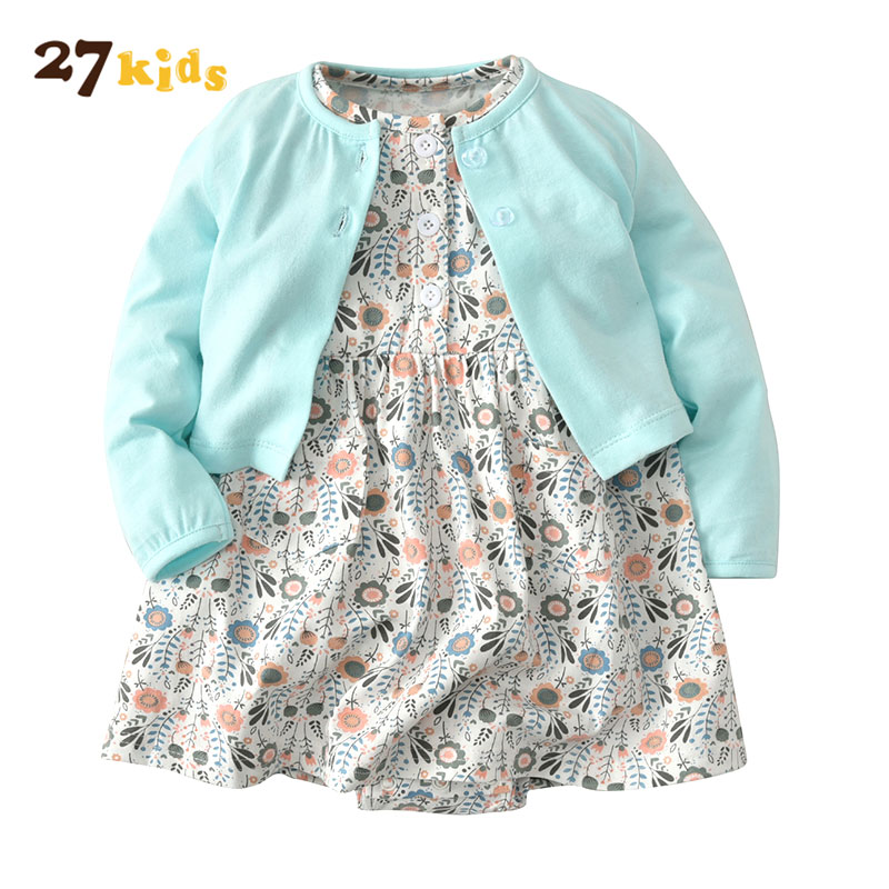 27Kids Baby girl clothes spring autumn newborn baby clothing set floral cotton infant clothing new arrival long sleeve outfits new arrival newborn baby boy clothes long sleeve baby boys girl romper cotton infant baby rompers jumpsuits baby clothing set