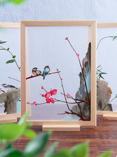 New Organza Embroidery Frame Painting Set Creative Present Shouzhou lotus orchid Emoridery DIY for Beginners Handmade Home Decor