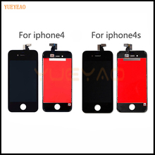 Yueyao AAA Качество ЖК-дисплей Экран для iphone 4 4S 5 5S 5C ЖК-дисплей Дисплей Сенсорный экран планшета Ассамблеи Замена для Iphone 5S ЖК-дисплей