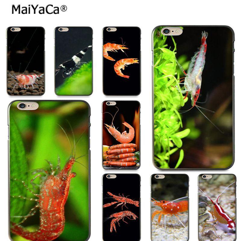 MaiYaCa cute shrimp phone Accessories case cover for iPhone X 6 6s 7 7plus 8 8Plus 5 5S 11pro max case coque funda