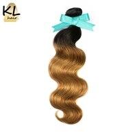 KL Hair Brazilian Body Wave Ombre Hair Bundles T1B 27 Color Hair 100 Human Hair Weaving