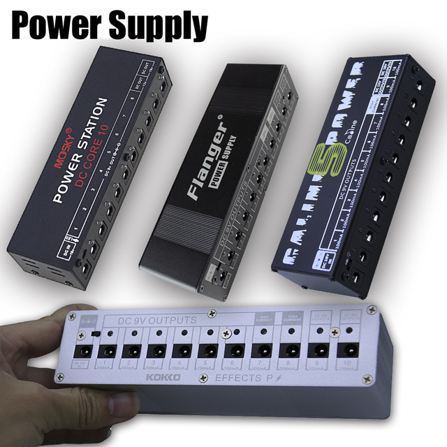 Caline/Mosky/Flanger/Kokko/Rahano Guitar Effect Pedals Power Supply 10 Isolated Output DC 18V voltage protection