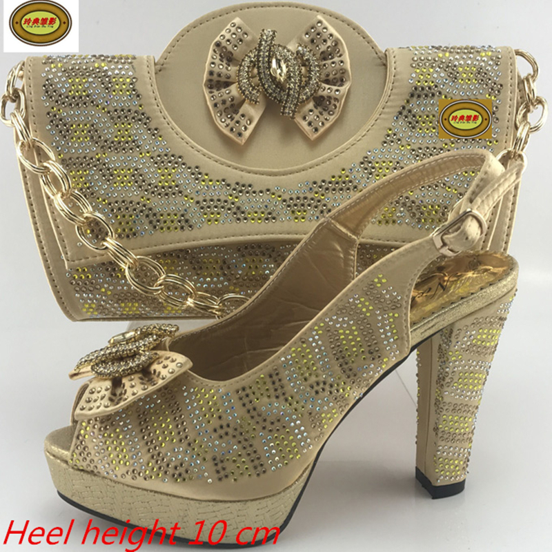 ME7715 New Fashion Summer Rhinestone Wedding High Heel Matching Bags Hot Sale African Women Shoes and Bags Set Online 2016 spring and summer free shipping red new fashion design shoes african women print rt 3
