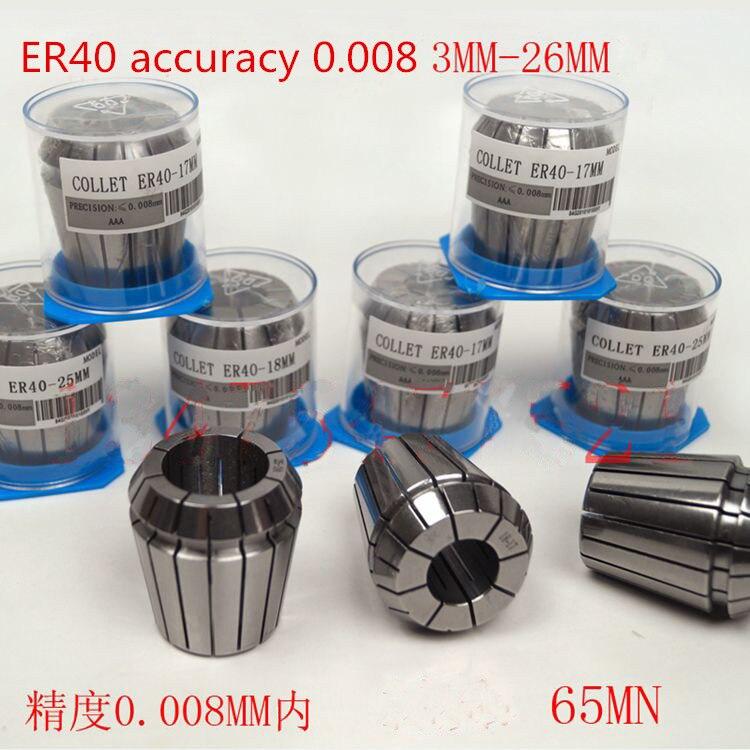 high accuracy 0.008mm ER40 Collet Chuck for Spindle Motor ER40 collets ER 40 Spring Collet