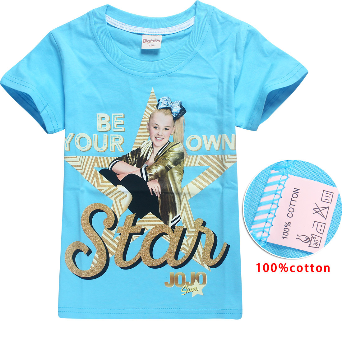 JOJO SIWA 100% Cotton T Shirts for Kids 2018 Summer Baby Girls Tops Tees + Hair  Bows Toddler Moana Trolls Kids Clothes 6 14y-in Tees from Mother   Kids on  ... f66d2db3e537