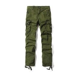 Autumn winter new plus size casual cargo pants multi pockets loose pantalon militar.jpg 250x250