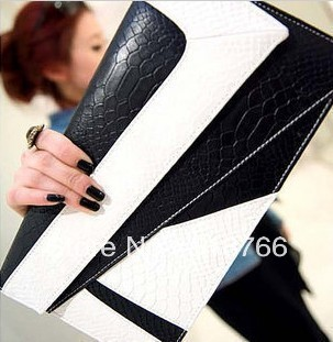 Fashion Vintage Leather Women Shoulder Handbag 2013 New Designer Day Clutch Envelope Evening Bag Free Shipping Wholesal/Retail