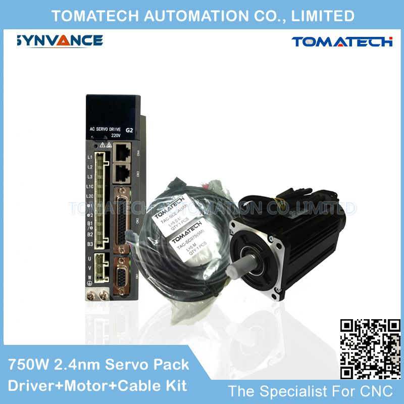 Latest version G2 Series AC Servopack 0 75KW 3000rpm 2 4nm AC servo driver and AC