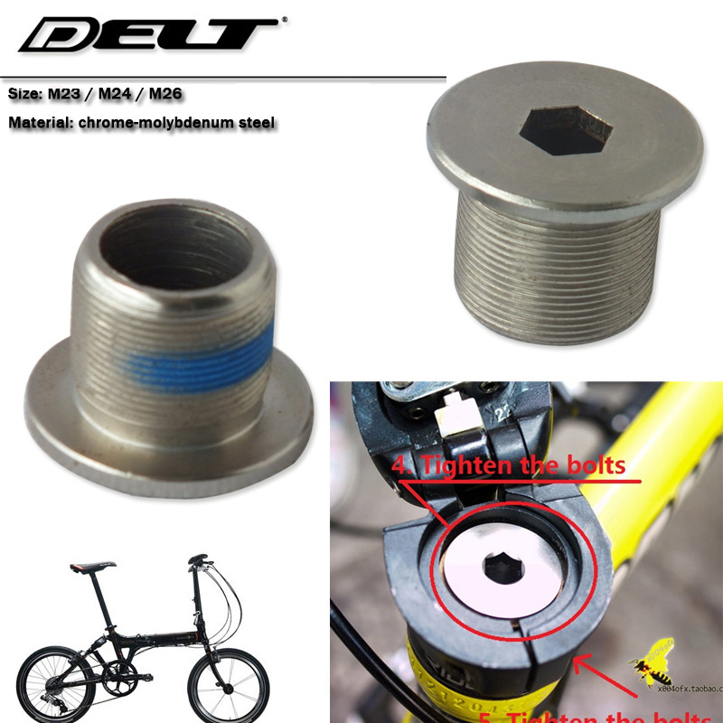1 pcs Lipat Bersepeda sepeda sepeda garpu besar sekrup baut kunci bingkai riser sekrup m23 m24 m26