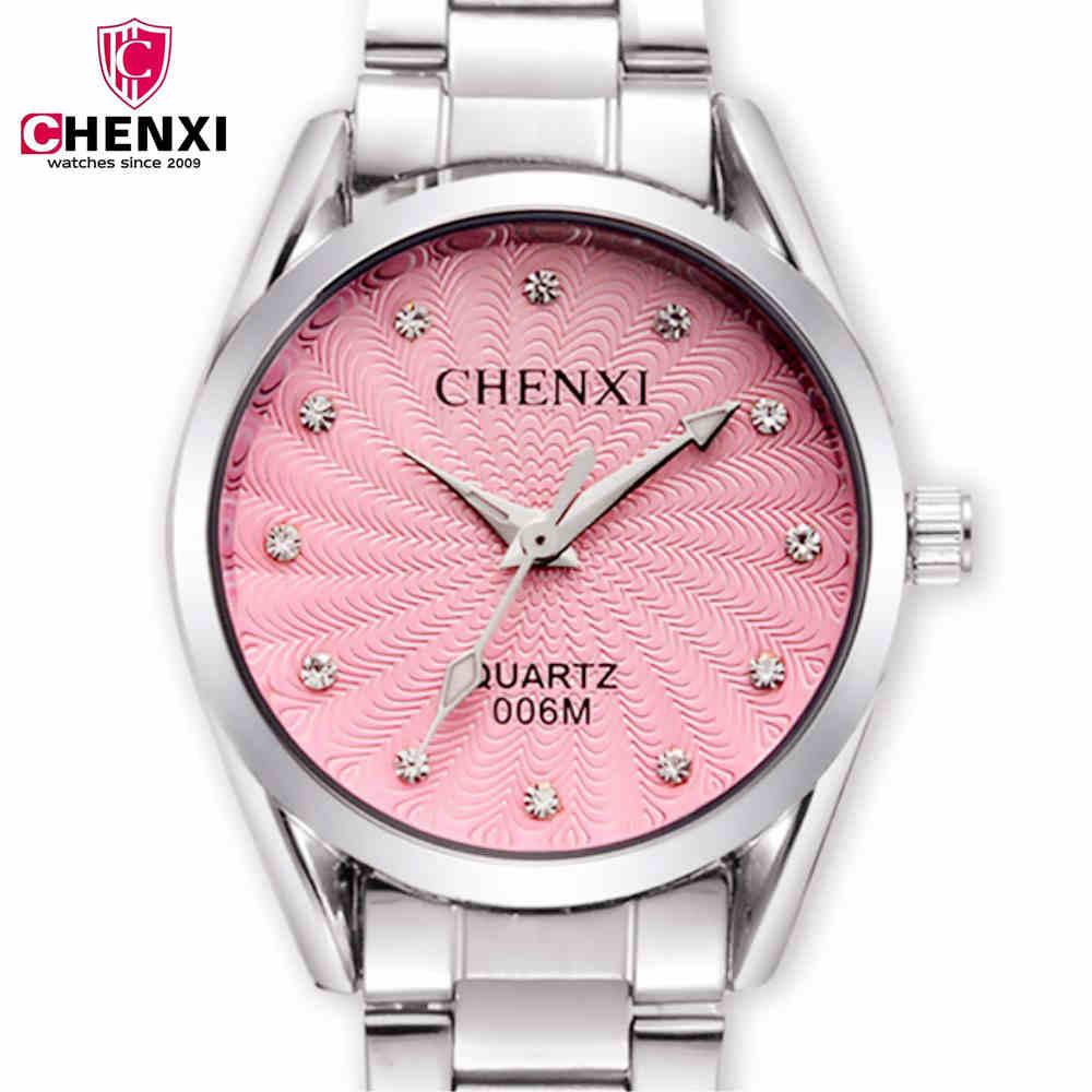 CHENXI női órák gyémánt rozsdamentes acél karórák női divat - Női órák