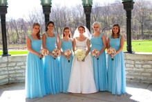 Spaghetti Straps Lace up Sweetheart Chiffon Draped Pleats Bridesmaid Dresses A Line Floor Length Wedding Party Gowns