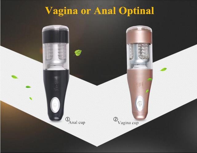 2016 Novo Elétrico Automático Máquina de Sexo Masculino Masturbador Mãos Livres Ajustável Rotação Automática Empurrando Masturbação Copo