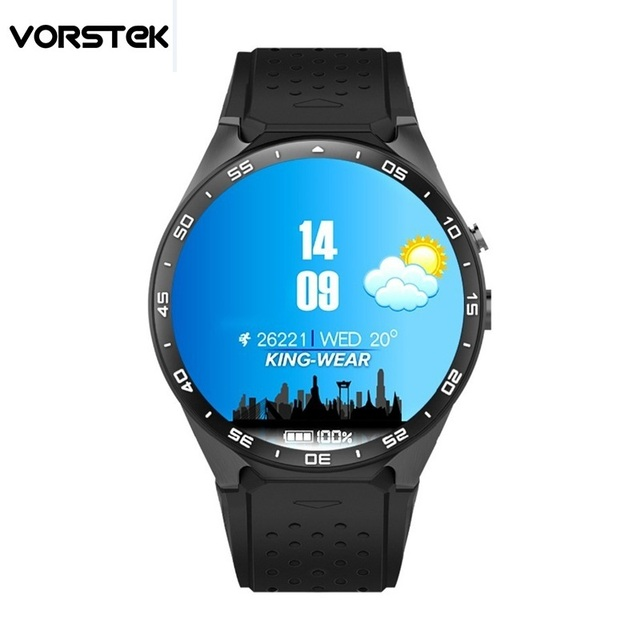 2016 KW88 Android 5.1 Smart Watch Phone MTK6580 quad core 1.3GHZ ROM 4GB + RAM 512MB 1.39 inch 400*400 Screen with 2.0MP camera