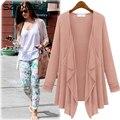 Kimono Cardigan Das Mulheres, solta Camisa Crepe Primavera Summer & Autumn Irregular Jaqueta OuwWear