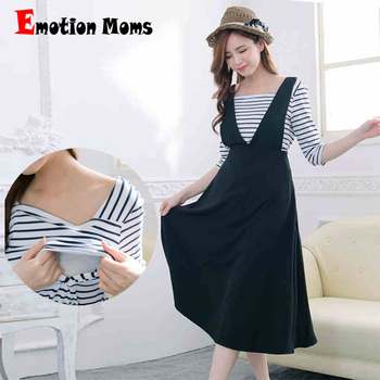 Emotion Moms Fashion Summer Maternity Clothes for Pregnant Women Casual Breastfeeding Dress Clothing Maternity Dresses emotion moms v neck summer maternity clothes maternity dresses breastfeeding clothes for pregnant women pregnant dress