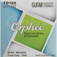Orphee TD160 acoustic guitar string Normalen licht gitarre Saiten 80/20 bronze String kupfer streicher 6 teile/satz