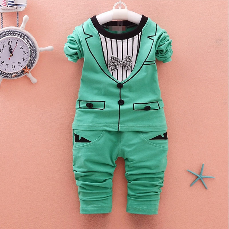 Boy baby clothes outfit casual sports suit 2pcs sets for spring infant baby boys clothing brand gentleman suit baby birthday set