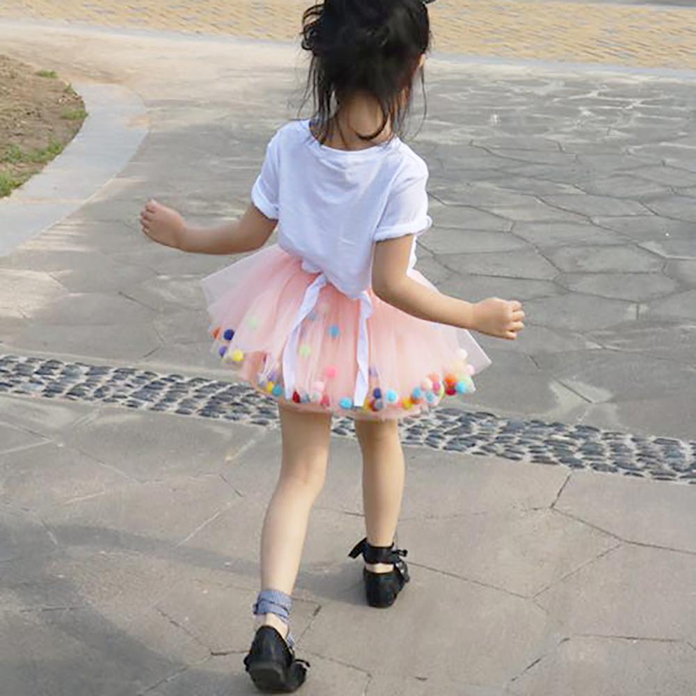 Dress Clothing Tutu-Skirt Pom-Pom Girl Baby Colorful Princess Children Summer Tulle Multilayer