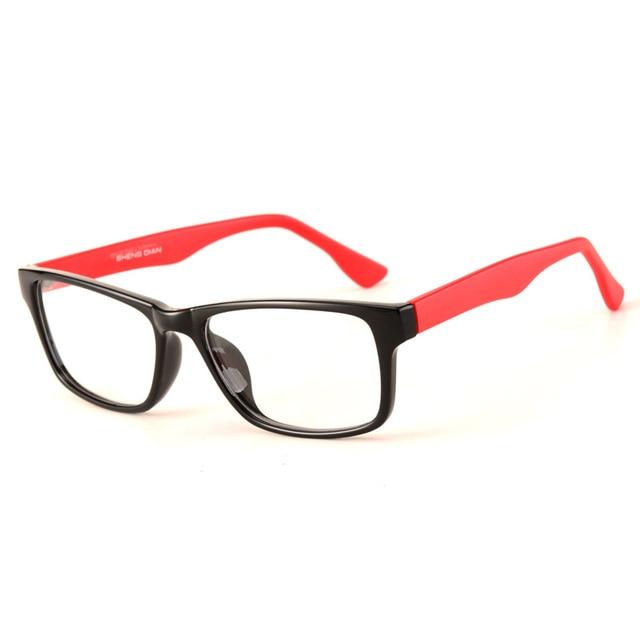 Очки рамки для женщин человек обычная очки для зрелища оптические очки дешевые китай очки hipster лоскутная черный квадрат 2372