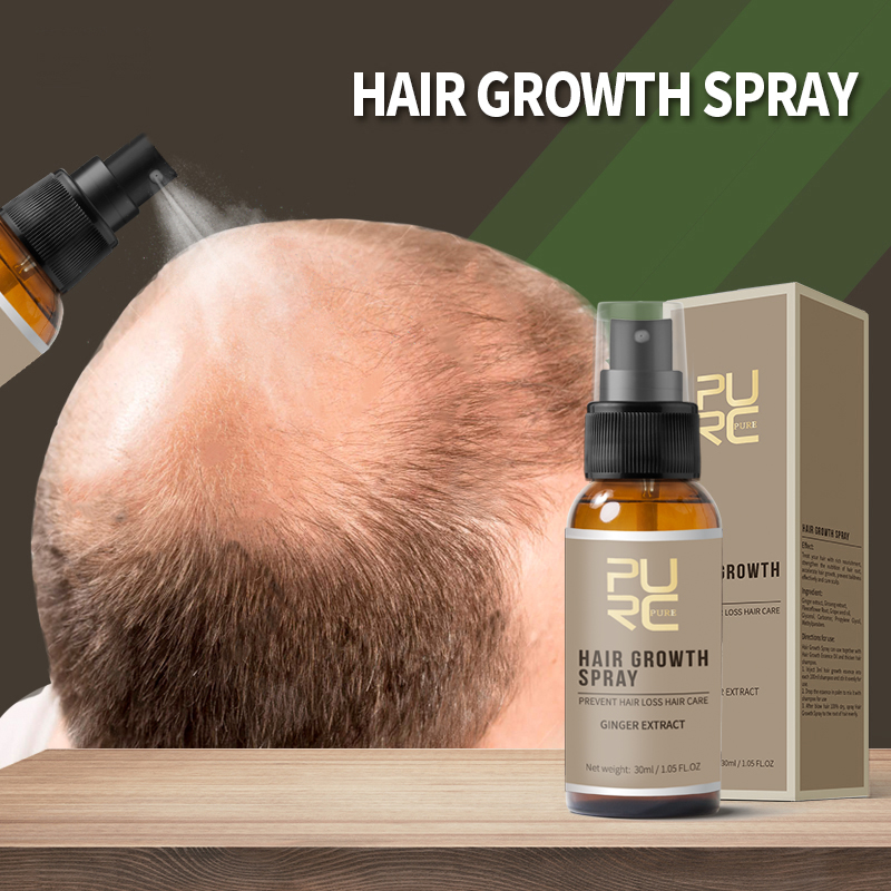 11.11 PURC New Product 30ml Hair Care Treatment Hair Growth Spray Ginger Extract Prevent Hair Loss for Men & Women 1