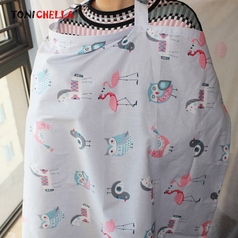Baby Breastfeeding Cover Infant Breathable Cotton Nursing Breast Feeding Apron With Adjustable Buckle Newborn Covers CL5409