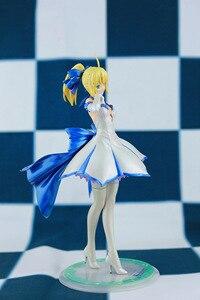 Image 4 - Japońskie Anime figurka los/pobyt noc wielkie zamówienie ALTER noc szabla biała sukienka rysunek PVC 27cm kolekcja modeli doll