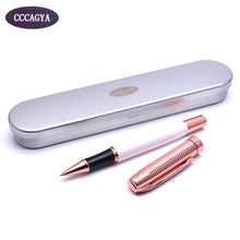 CCCAGYA C033 new creative rose gold color high quality copper ballpoint pen Office & School Supplies 0.5mm nib Business gift