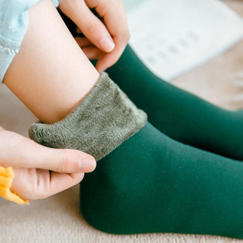 1Pair Women Fleece Sockss