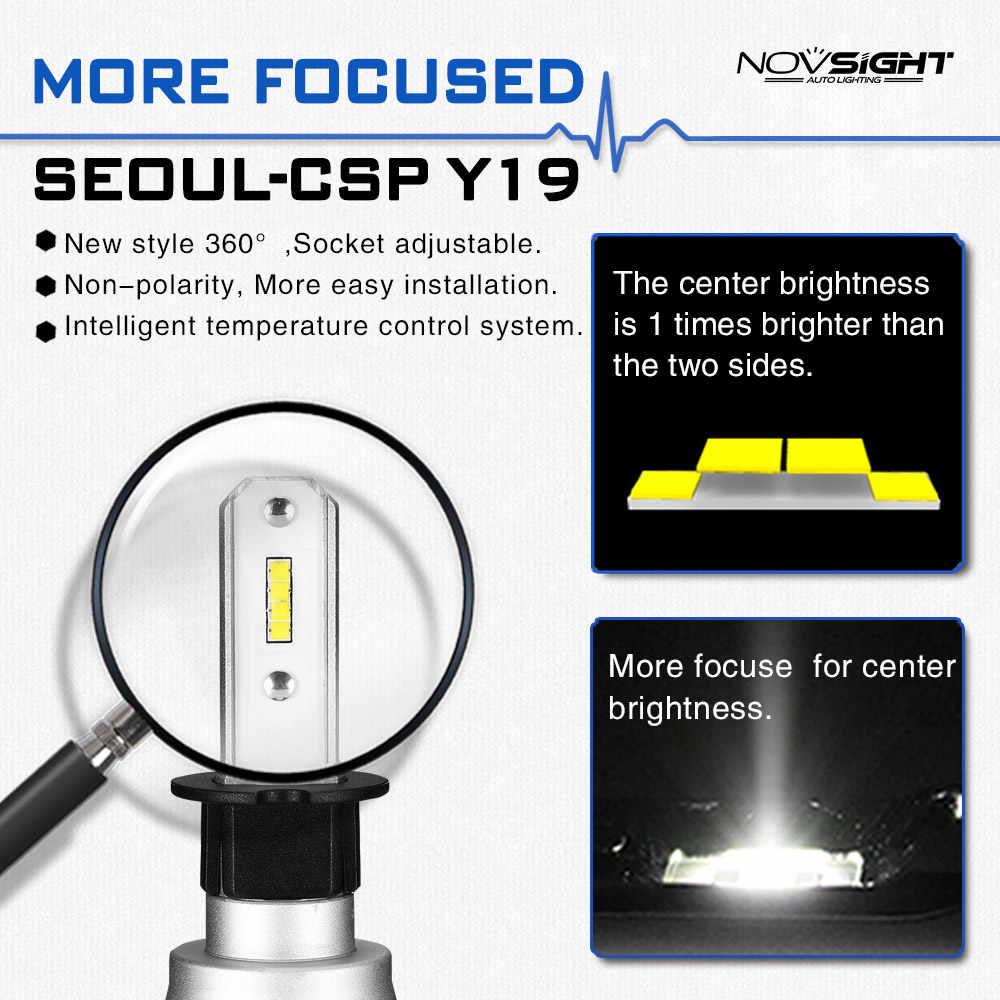 Novsight 2 шт. h3 светодиодные лампы для автомобильных фар h1 H4 H7 H11 HB4 9005 9006 10000лм 50 вт высокий низкий пучок авто лампы фары 12 В 24 В для авто