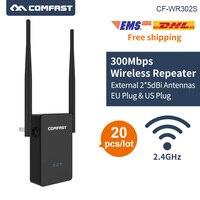 20 шт. DHL беспроводной N Wi-Fi маршрутизатор 300 Мбит/с wifi мини-маршрутизатор Портативный Wi-Fi повторитель 802.11b/g/n 2,4 г wifi удлинитель 2 * 5dBi антенна