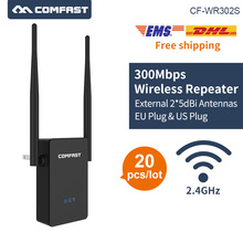 20pcs DHL Wireless N WIFI router 300Mbps wifi Mini portable wi-fi repeater 802.11b/g/n 2.4G Extender 2*5dBi antenna