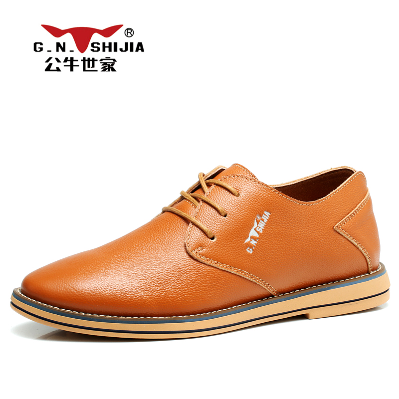 G.N. SHI JIA Brown Genuine Leather Upper Rubber Outsole Men's Casual Shoes New British Type Comfortable Leisure Shoes 888310 led flashlight led cree xm l t6 torch lanterna zoomable waterproof hand light 3000 lumens aaa or 18650 rechargeable battery