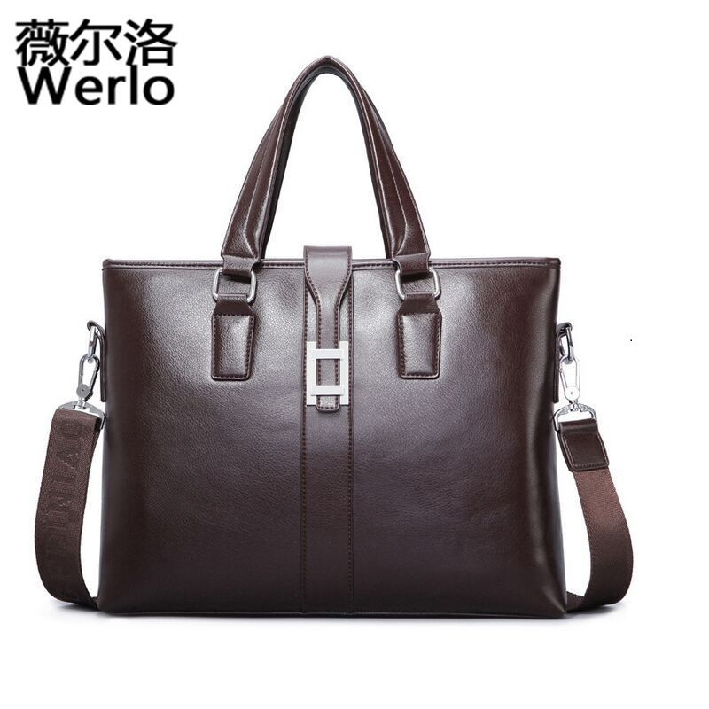 WERLO 2017 New PU Leather Bag Casual Handbags Cowhide Men Crossbody Bags Men's Travel Bags Tote Laptop Briefcases Men Bags SJ112 videng polo brand leather bag casual men handbags men crossbody bags men s travel bags tote laptop briefcases men s bag
