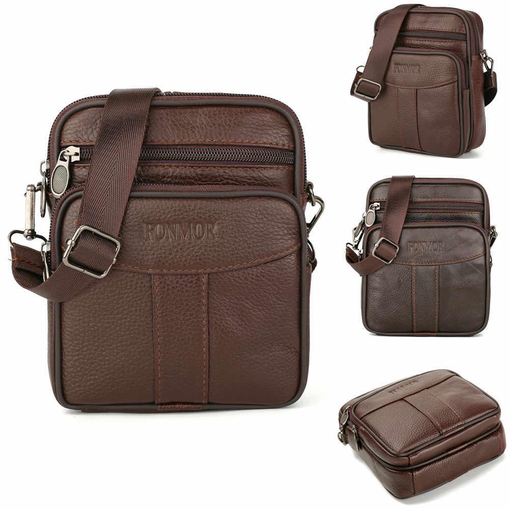 9c842d2774ae 2018 Promotion Designers Brand Men s Messenger Bags PU Leather Vintage Mens  Handbag Man Crossbody Bag for