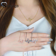 Women CZ Necklace, Fashion Jewelry,The Rainbow Series, Lightning Shape, 4 Plating Colors,Can Wholesale,5pcs