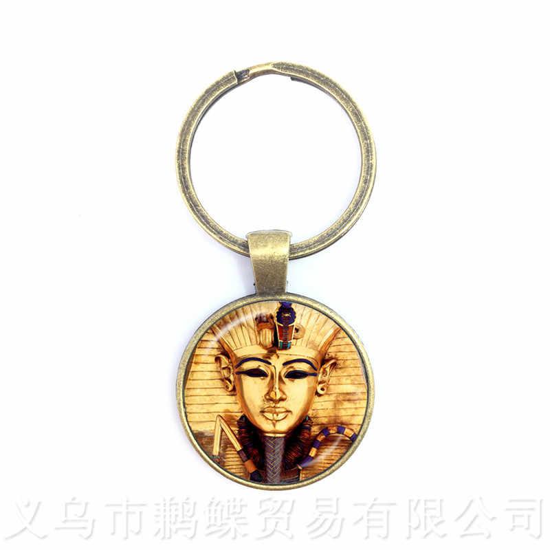 Vintage soleil et lune maçonnique maçon porte-clés oeil de Providence porte-clés hommes antique égyptien Ankh pendentif religieux bijoux