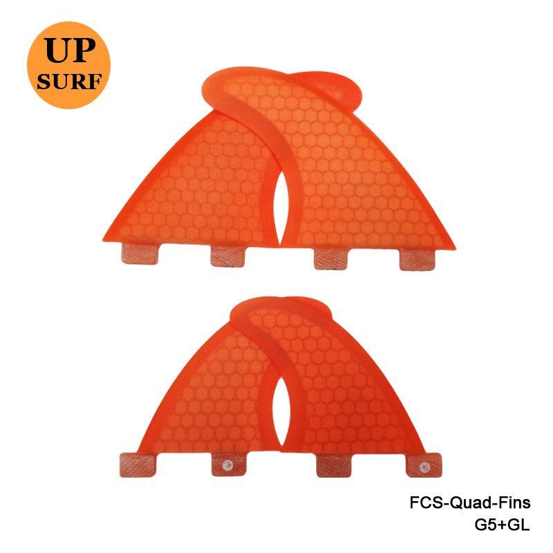 New Design FCS Quad Fins SUP Surfboard FCS G5+GL Fin Honeycomb FCS Fin Quilhas In Surfing free shipping made in china cheapest quality sup table fin system 8 centre fin and 2 pcs fcs g5