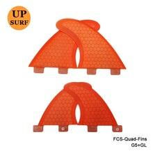 Nouveau Design FCS Ailerons Quad SUP Planche De Surf FCS G5 + GL Fin Nid D'abeille Fcs fin Quilhas Dans Le Surf