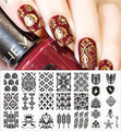 BORN PRETTY Nail Stamping Plates Vintage Damask Nail Art Stamp Template Image Plate DIY Manicure Decoration BP-L007