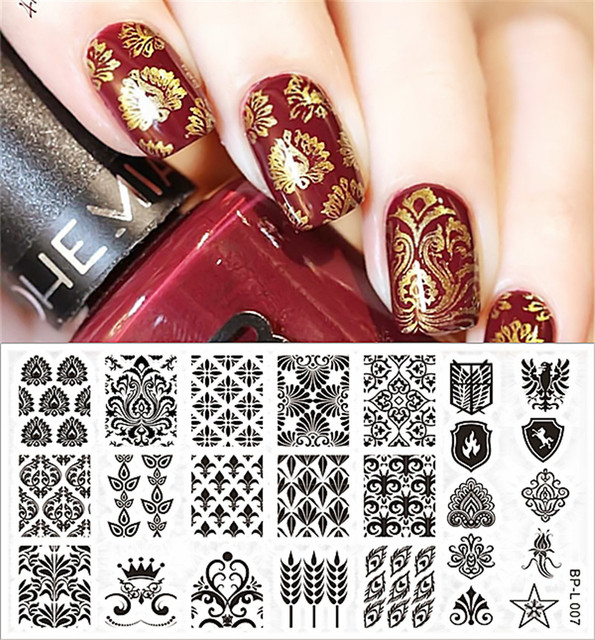 Aliexpress Buy Born Pretty Nail Stamping Plates Vintage Damask