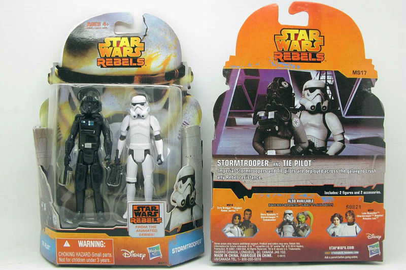New 1pc <font><b>STAR</b></font> <font><b>WARS</b></font> <font><b>REBELS</b></font> MISSION <font><b>Action</b></font> <font><b>Figure</b></font> MS17 STORMTROOPER and <font><b>TIE</b></font> <font><b>PILOT</b></font>