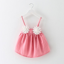 2018 New Baby Party Dress Summer Flower Girls Newborn Princess Dresses Kids Beautiful Dress Clothing цена в Москве и Питере