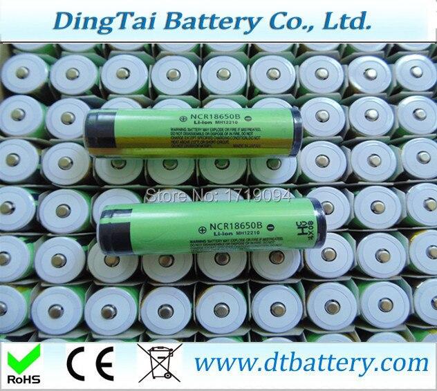 Ncr18650b 3 7v 3400mah With Pcb Pcm Flashlight Battery