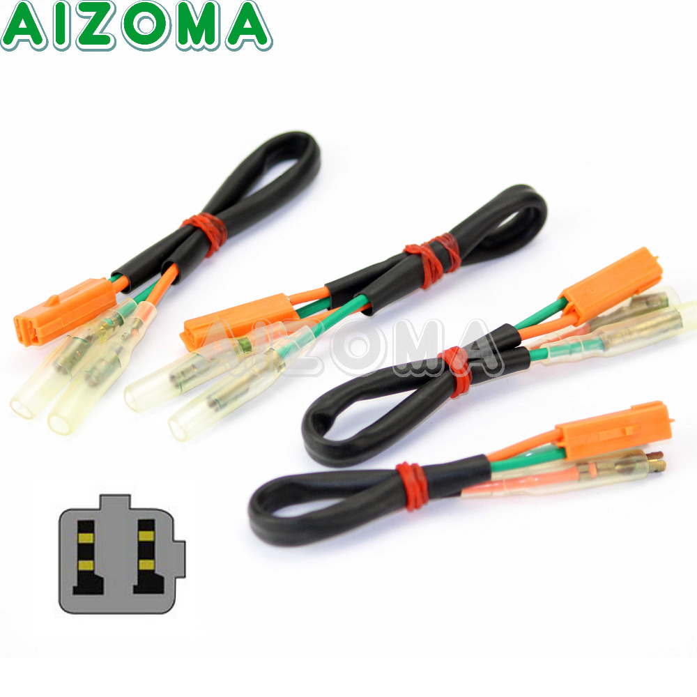 4 X Motorcycle Oem Turn Signal Wiring Adapter Plug Harness For 99 Suzuki 300 4pcs Wire Adapters Lead Connector Cable Blinker Adaptor Kawasaki Ex Zx 250 600